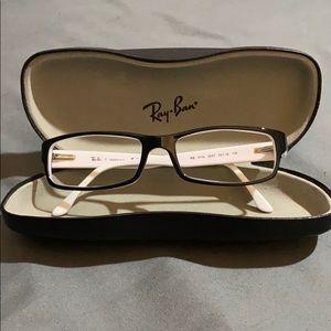 Ray-Ban black & white eye glasses